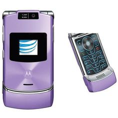 Motorola Razr V3XX Lavender Unlocked GSM Flip Cell Phone Free Shipping... ($120) ❤ liked on Polyvore featuring accessories, tech accessories and motorola