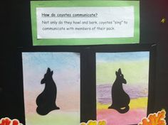 I did these a long time ago and the kids loved them.  Nice to remember! Sunset Silhouettes-   How Do Coyotes Communicate?