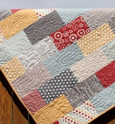 New baby boy quilts patterns layout ideas Longarm Quilting, Free Motion Quilting, Machine Quilting, Quilting Projects, Quilting Designs, Sewing Projects, Quilting Tips, Quilting Patterns, Quilting Tutorials
