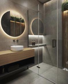 Modern Home Interior Design, Bathroom Design Luxury, Modern Bathroom Design, Kitchen Space Savers, Bathroom Design Inspiration, Diy Bathroom Remodel, Bathroom Styling, Interior Decorating, Modern Small Bathrooms