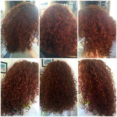 Before & After Deva Curl Cut with Goldwell reds Deva Curl Cut, Curls, Curly Hair Styles, Hair Cuts, Hairstyles, Amp, Roller Curls, Haircut Designs, Haircut Designs