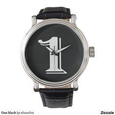 One black reloj de mano