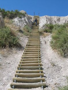 Looking into hiking new exciting spots? Check out the ladder on Notch Trail at Badlands National Park in South Dakota... cool huh? Take a road trip, grab your RV, do a little camping, we've planned it out for you!