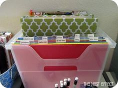 October project: my favorite paper clutter organizers