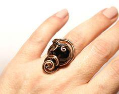 Moonstone ring anillo de piedras preciosas por BeyhanAkman