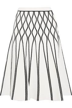 Tomas Maier - A Bomb Stretch-knit Midi Skirt - White - US0