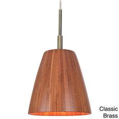 Sorg 1-light Adnap Bamboo Mini Pendant | Overstock.com Shopping - Great Deals on Woodbridge Lighting Chandeliers & Pendants