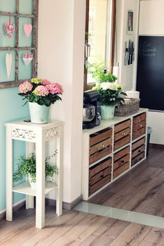 Tapetenwechsel und kleine Wohnungsführung