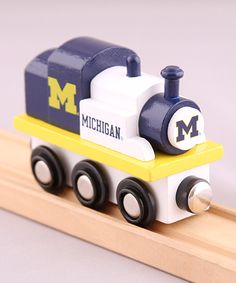 Look at this Michigan Wolverines Toy Train Engine on #zulily today!