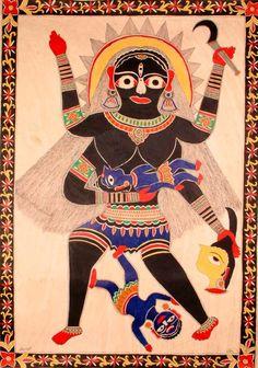Goddess Kali Suckling Lord Shiva