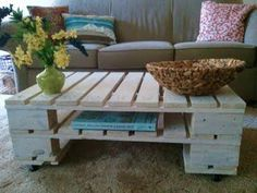 Dream home. Pallet DIY coffee table.  I'd like this for an outside seating area.