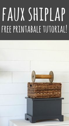 Create your own faux shiplap wall with less than $75 and materials from your local hardware store.  Print your free tutorial and add some Fixer Upper farmhouse style decor to your own home!