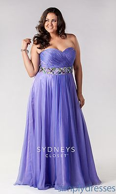 Strapless Sweetheart Plus Size Gown at SimplyDresses.com