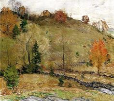 """Hillside Pasture,"" Willard Leroy Metcalf, 1924, oil on canvas, 29 x 33"", private collection."