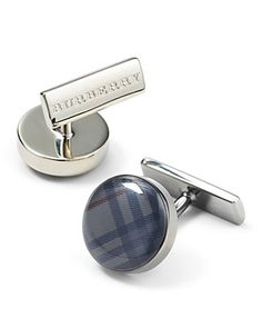 Plaid Burberry cufflinks = amazing gift