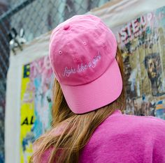 Pink Fight Like A Girl Baseball Cap | NYLON SHOP