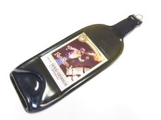 Slumped Wine Bottle Cheese Tray - Vinaceous Red Right Hand Wine