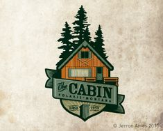 The Cabin by jerron   -   Illustrative Logo   -   logopond.com