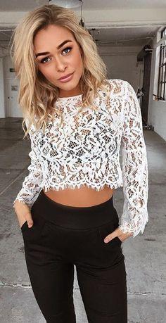#summer #tigermist #outfits | White Lace + Black
