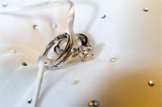 Wedding Ring and engagement ring with diamond detail