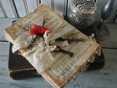 Altered Book Vintage Hymnal Sheet Music by SweetPeaVintageArt, $45.00