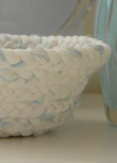 homework: creative inspiration for home and life: Upcycling: t-shirt yarn braided basket