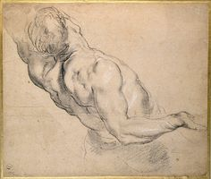 Credit: Ashmolean Museum Peter Paul Rubens' A Nude Man Seen Partly from Behind