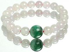 #Jewelry #Bracelets Jadeite Jade Bracelet 9.3mm Round Beads