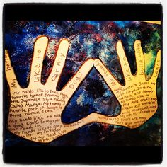 Teachable Moments: Art Journaling: My Hands