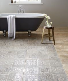 Bathroom Floor Tiles at Topps Tiles. Express and 24 hour home delivery available. Cheap Bathroom Tiles, Modern Bathroom Tile, Bathroom Tile Designs, Cheap Bathrooms, Bathroom Floor Tiles, Simple Bathroom, Bathroom Interior Design, Master Bathroom, Small Bathrooms