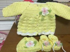 Baby girl crochet set 0 -3 m $40