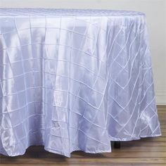 """108"""" Lavender Round Pintuck Tablecloth Tablecloth Sizes, Round Tablecloth, Tablecloths, Chair Covers, Table Covers, Lavender Wedding Decorations, Pastel Decor, Pin Tucks, Table Linens"""