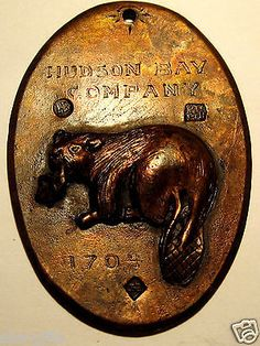 """""""1704 Hudson Bay Co Port Albany Beaver Indian Trade Medal Medallion... This item was purchased as used with no evidence of proof of originality and will be sold as a reproduction and not an original item."""""""