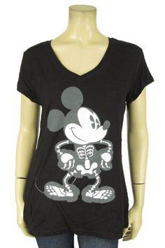 Disney Mickey Mouse Glow Dark Skeleton T-Shirt Halloween Women S M L XL XXL | eBay
