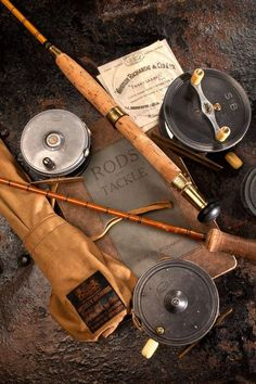 I would love to find some vintage fishing gear. Trout Fishing Tips, Fly Fishing Gear, Best Fishing, Fishing Reels, Fishing Lures, Fishing Stuff, Fishing Tackle, Fishing Storage, Survival Fishing