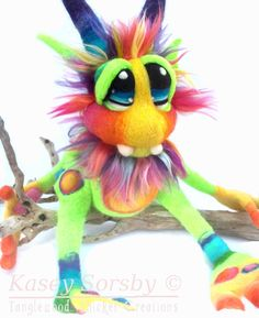JuJub Felted Goblin  by Tanglewood Thicket Creations