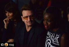 regram @u2news #Repost @niag  Bono (@U2)  @danaigurira tonight @edun // SN: I need to catch up on tonight's premiere of @thewalkingdeadamc ASAP!  #NYFW #EDUN #FW16 #TheWalkingDead #Bono #danaigurira by s3r6i0
