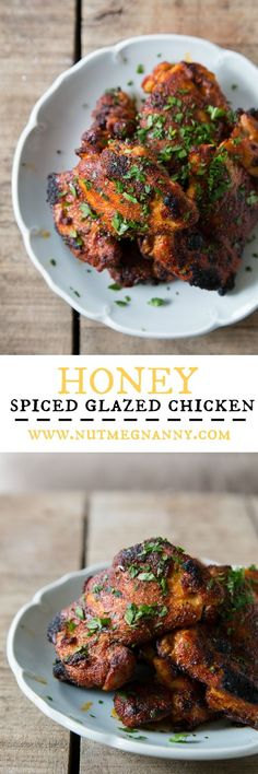 This honey spiced glazed chicken is ready from start to finish in just 25 minutes! Season up your chicken, broil, glaze with honey and dinner is done!