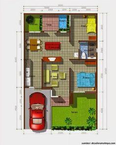 Denah Rumah Minimalis 8x15 1 Lantai Kreatif Rumah In 2018