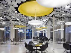 Spectacular Canteen Design Modern Ceiling Design with Mirror Chip Luminosity – Der Spiegel Canteen Design by IFG Modern Ceiling Design with Mirror Chip Luminosity – Der Spiegel Canteen Design by IFG