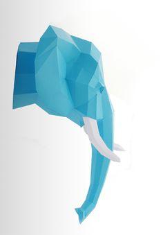 """Deko-Objekte - Trophäe Elefant PRECUT! """"The Big Five"""" DIY #2 - ein Designerstück von paperwolf bei DaWanda"""