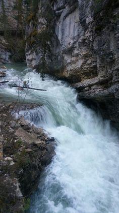 Johnston Canyon, Waterfall, River, Outdoor, Outdoors, Waterfalls, Rivers, Outdoor Games, Rain