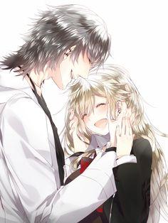 anime boy and anime girl