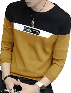 Checkout this latest Tshirts Product Name: *EYEBOGLER 100% Cotton Regular Fit  Round Neck Full Sleeve Men's T-Shirt* Fabric: Cotton Sleeve Length: Long Sleeves Pattern: Colorblocked Multipack: 1 Sizes: S, M, L, XL, XXL Country of Origin: India Easy Returns Available In Case Of Any Issue   Catalog Rating: ★4 (232)  Catalog Name: Classic Fashionable Men Tshirts CatalogID_2202957 C70-SC1205 Code: 373-11664662-798