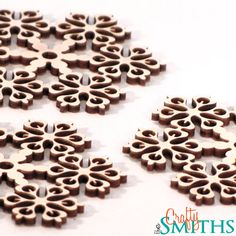Laser Cut Baltic Birch Plywood 3 Snowflakes  A by TheCraftySmiths, $17.34