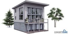 Small house plan with four bedrooms. Simple lines and shapes, affordable building budget. Perfect small house plan if you have small lot and three floors are allowed.