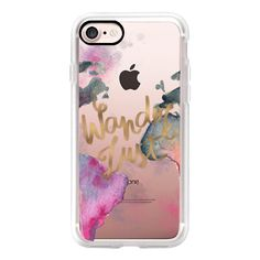 Wanderlust - iPhone 7 Case, iPhone 7 Plus Case, iPhone 7 Cover, iPhone... ($40) ❤ liked on Polyvore featuring accessories, tech accessories, iphone case, apple iphone case, iphone cases and iphone cover case