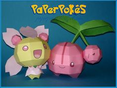 Easy Pokemon Papercraft | PaperPokés - Pokémon Papercrafts: CHERUBI