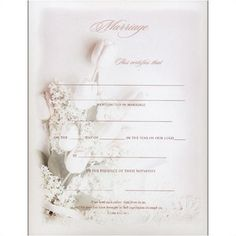 Marriage Certificate - Tulip Bouquet - WeddingDepot.com - 102-U2636 Measures 8x10 and comes with envelope. Decorative marriage certificates are a great way to document your special day as well as provide a keepsake memorie that can be framed and displayed in your home after the wedding day.