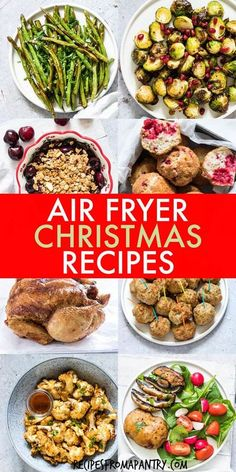 These Air Fryer Holiday Recipes are delicious & delectable dishes that are also quick and easy to make! From appetizers, sides and main dishes, to desserts and even breakfasts, the air fryer has got your holiday menu covered. Collection includes recipes suitable for a wide range of dietary considerations. Click through to get all these awesome Air Fryer Christmas Recipes!! #airfryer #airfryerrecipes #holidayrecipes #thanksgivingrecipes #christmasrecipes #christmas #healthyeating Leftovers Recipes, Lunch Recipes, Appetizer Recipes, Breakfast Recipes, Healthy Recipes, Thanksgiving Appetizers, Thanksgiving Recipes, Christmas Recipes, Holiday Recipes